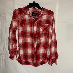Red and white Rails flannel
